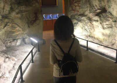 Ricostruzione della grotta funeraria presso il Museo Ridola di Matera