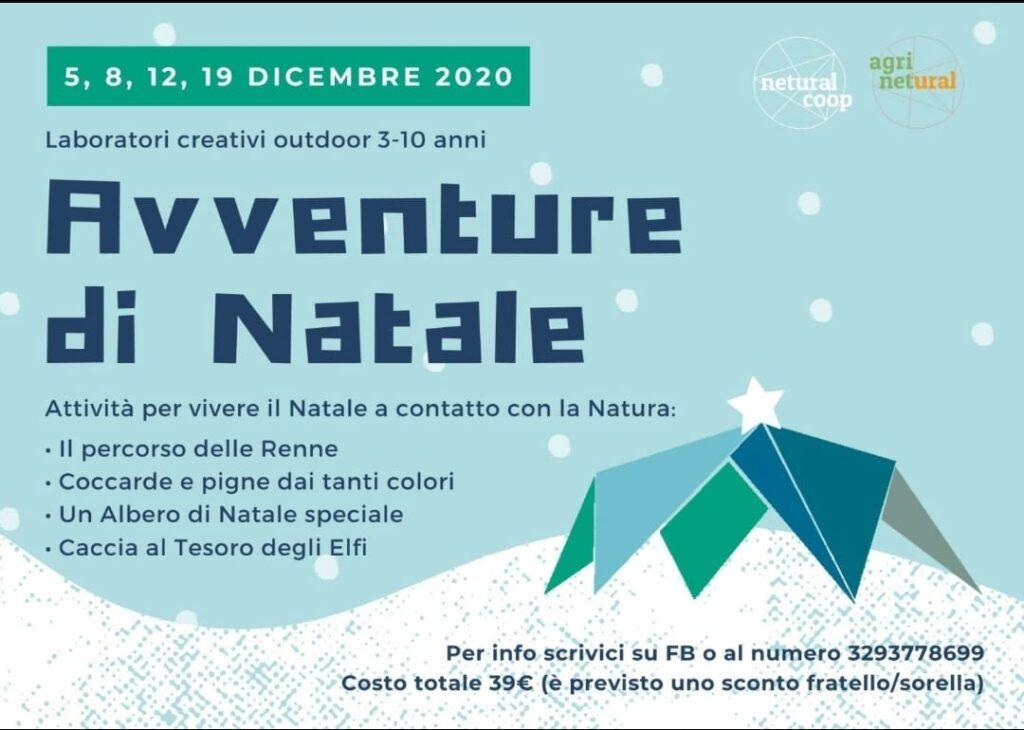 Avventure di Natale, le attività outdoor per bambini di Netural Coop