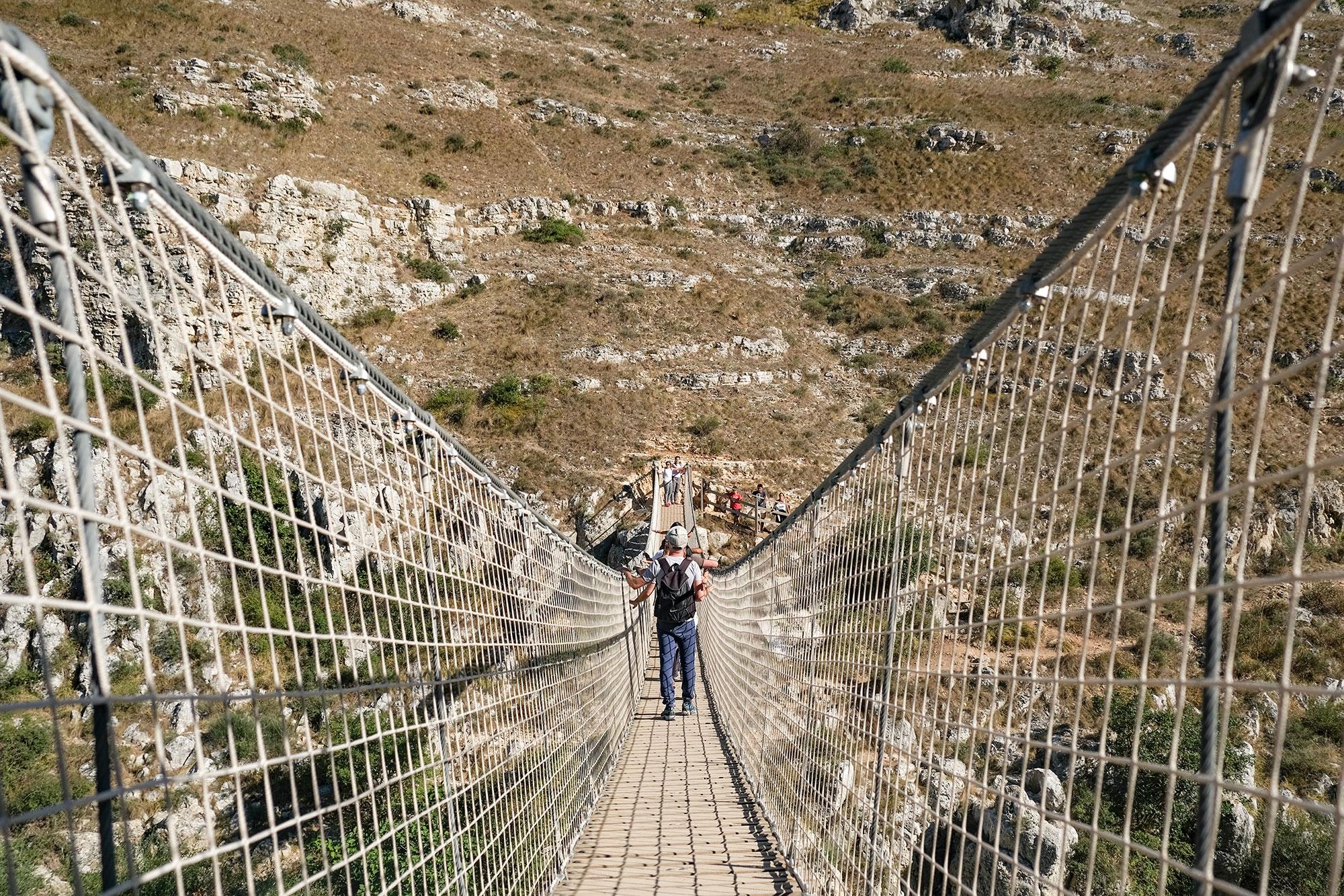 Sul Ponte Tibetano di Matera